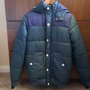 H&M Retro Vibe Puffer Jacket with Hood